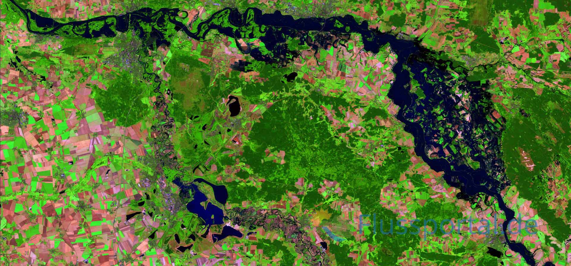 Das Elbe-Elster Tiefland ist die erste Großlandschaft die die Mittleren Elbe durchquert