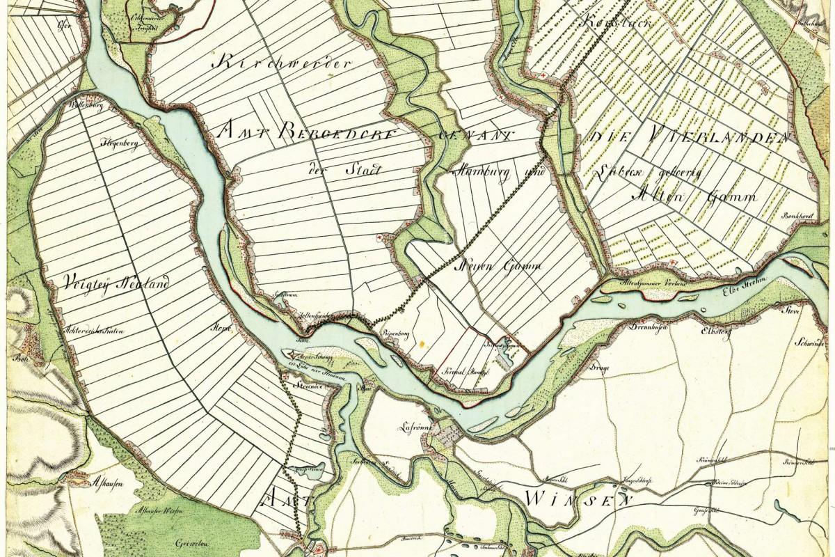 Vierlande, Winsen. Aufgenommen in den Jahren 1789 bis 1796 unter der Direktion des Majors Gustav Adolf von Varendorf