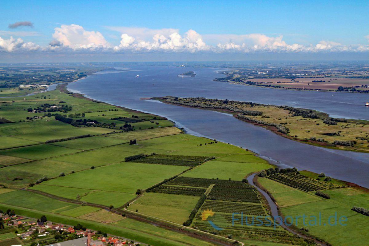 Der große Asselersand wurde von Elbe zu Elbe vollständig von der Ruhte umflossen