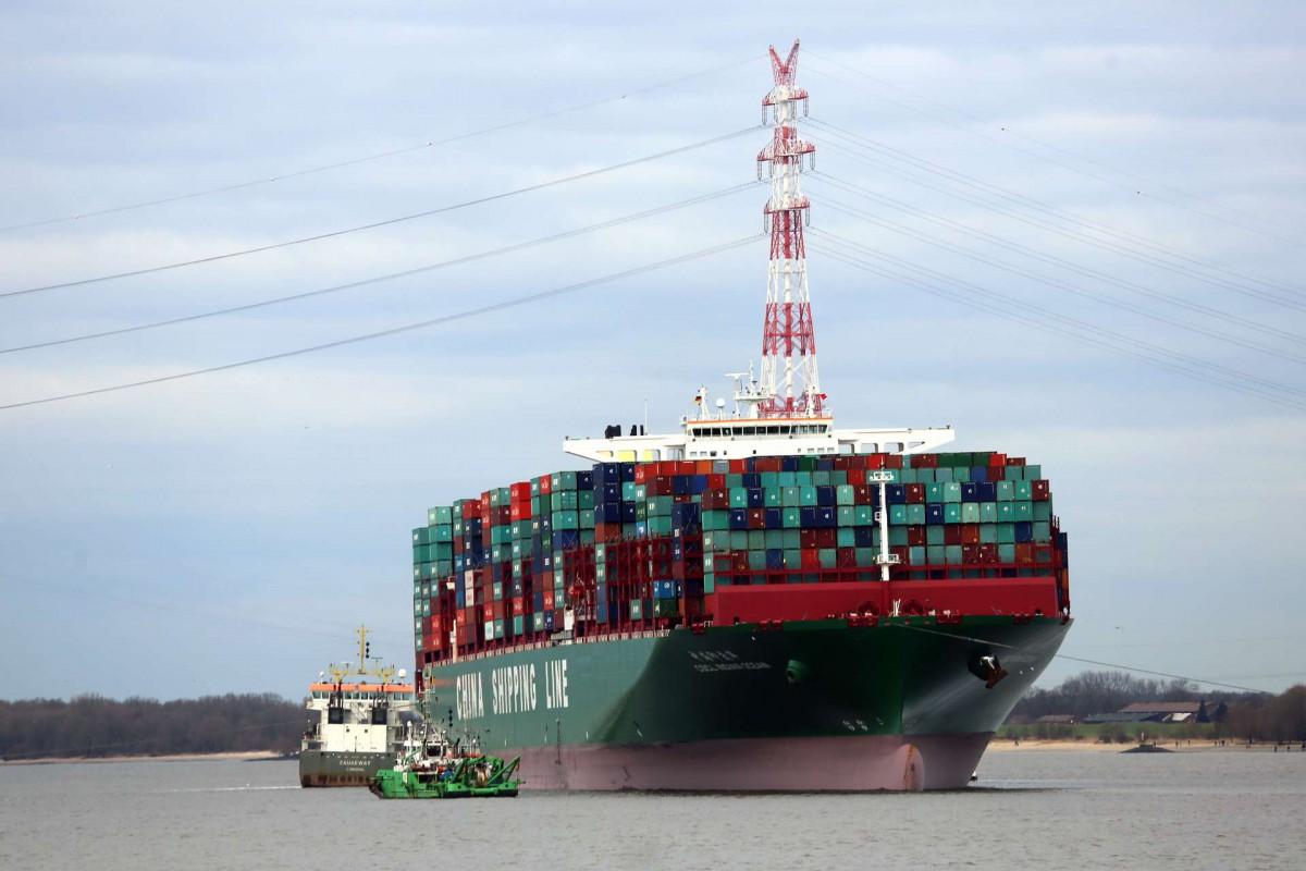 Havarie des Megaschiffs Indian Ocean vor Lühesand
