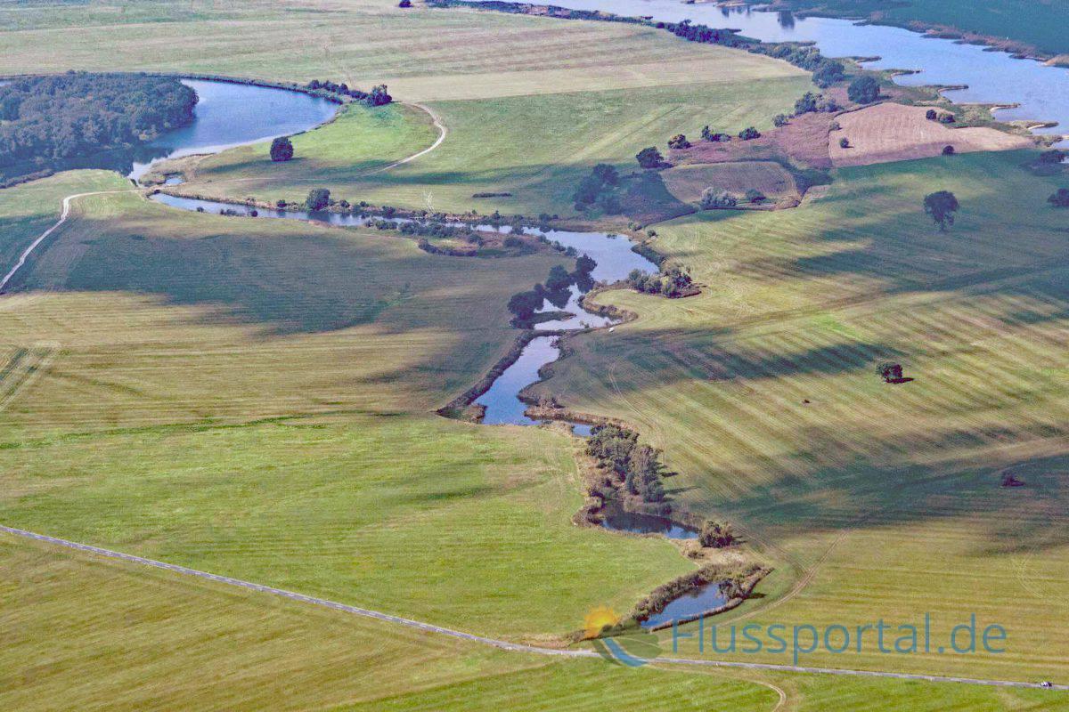 """Das Tiefland ist mit alten Flusskehren der Elbe übersät, man war nicht eben zimperlich bei der """"Rektifizierung """"des Flusses"""
