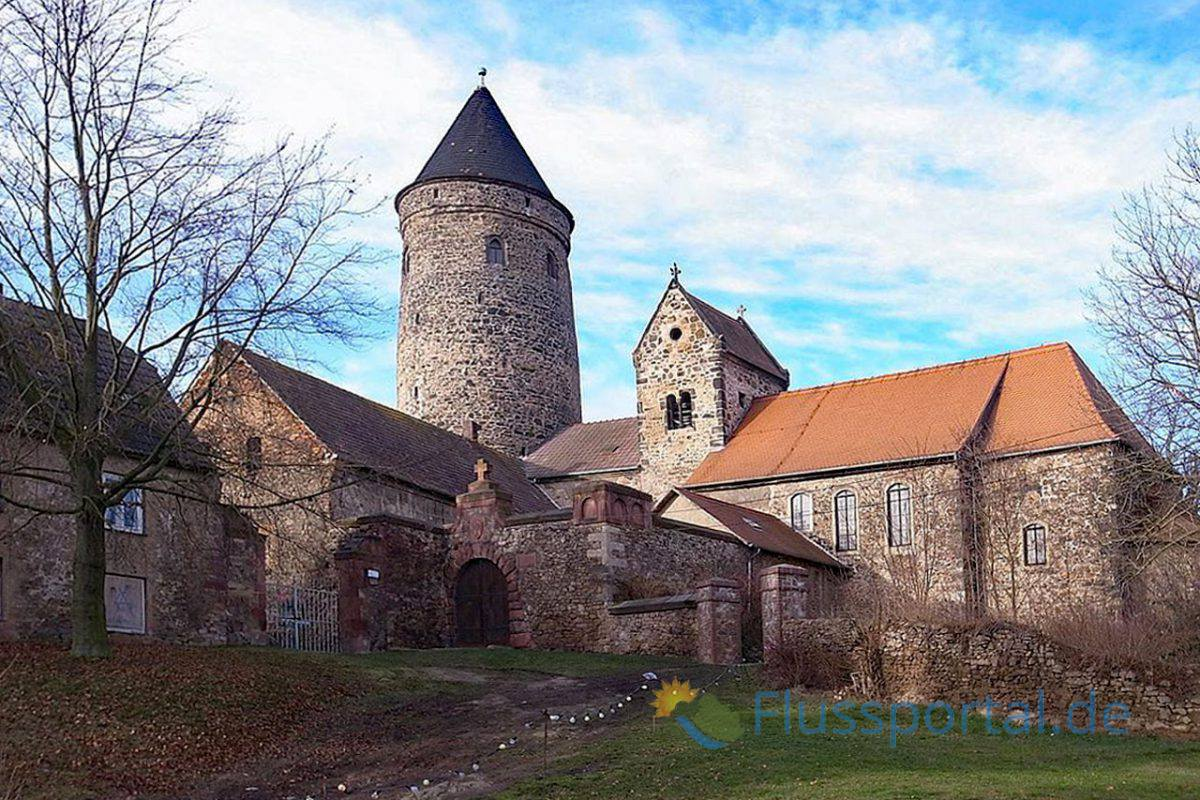 Die Burg Hohenthurm befand sich am slawischen Elbufer der Saale