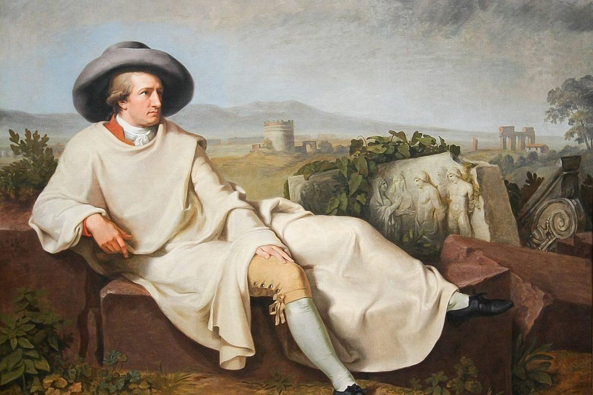 Goethe in der Campagna, der große Schriftsteller bekam wohl die Anregungen für seine Italienreise von reichen Erfahrungen des Fürsten