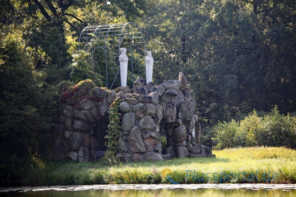 Die Amalien insel nach ihrer Rekonstruktion