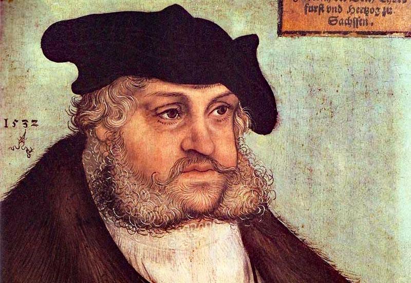 """Nuntius Aleander nannte Friedrich den Weisen in Worms ein """"fettes Murmeltier""""."""