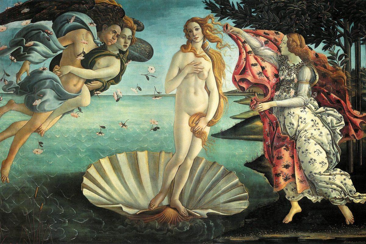 Die Geburt der Venus, Sandro Botticelli, ca. 1485/86, Uffizien
