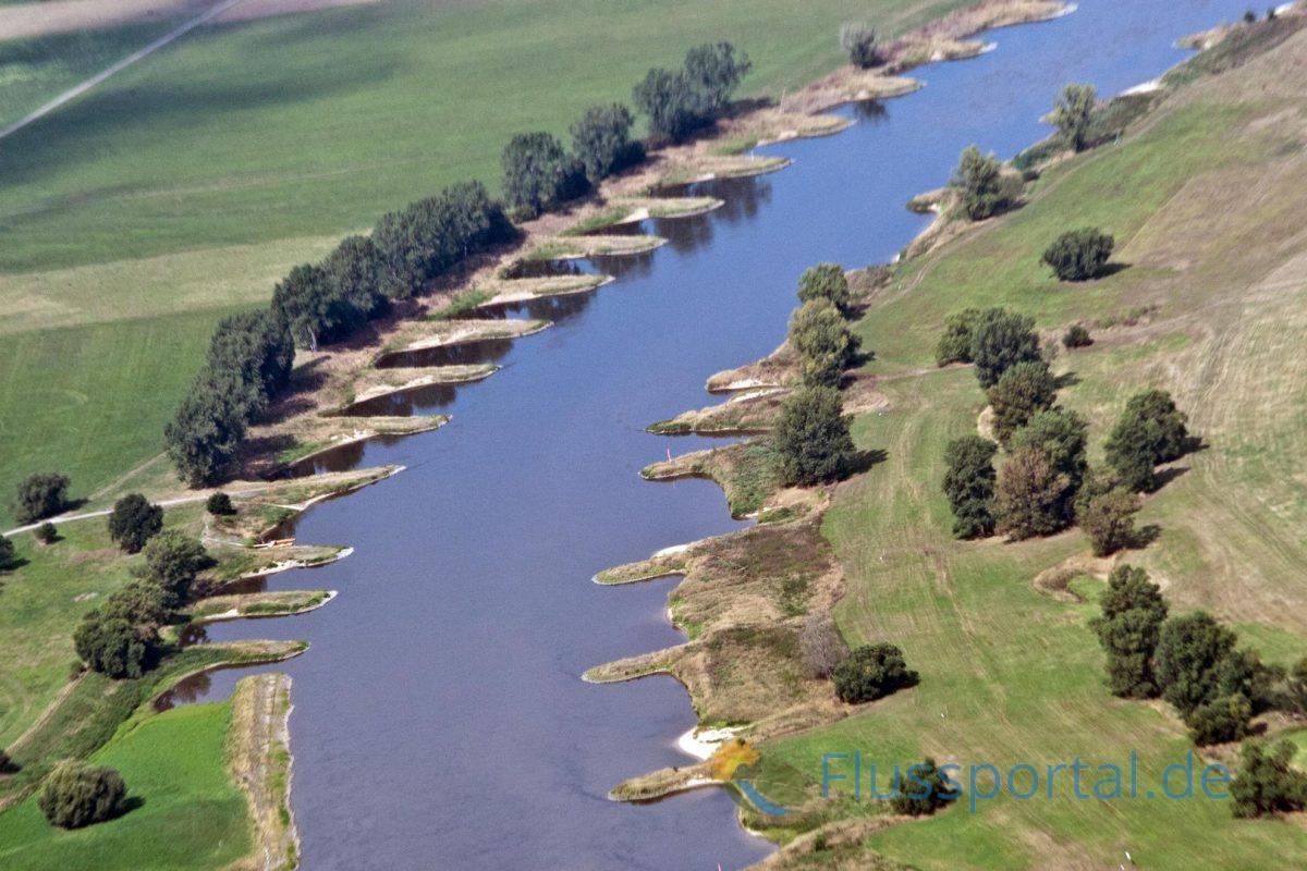 Die Elbe wurde deshalb in ihrem gesamten Mittellauf in der ersten Hälfte des 19. Jahrhunderts mit 6.900 Buhnen ausgebaut