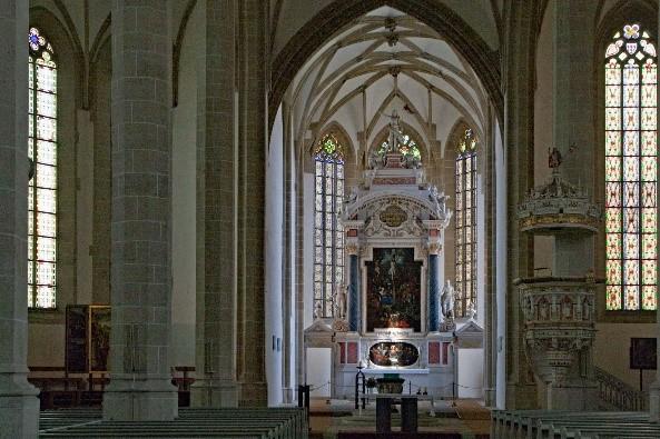 Die denkmalgeschützte Torgauer Schlosskapelle ist der erste evangelische Kirchenneubau der Welt