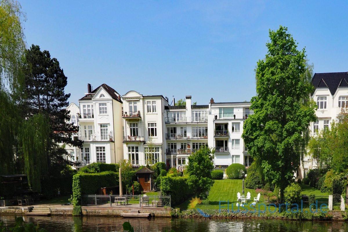 Die nachverdichteten Villen am Eppendorfer Ufer