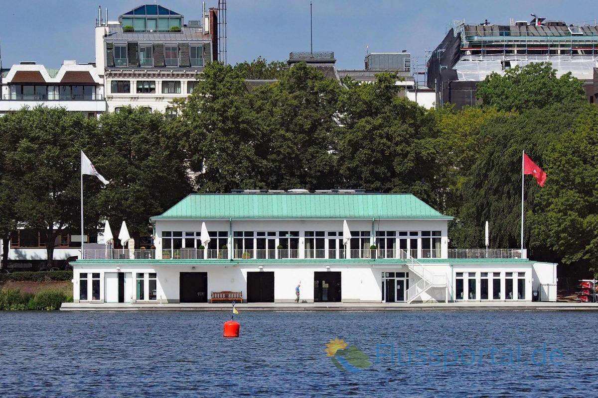 Das Clubhaus, 175 Jahre alten den Hamburger Ruder Clubs