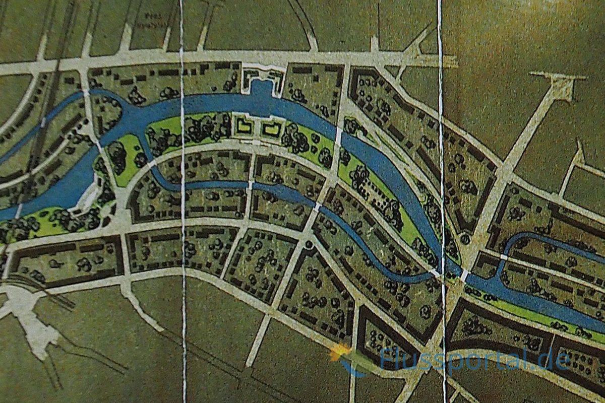 Mit dem Bau des begadigten Alsterkanals und den alten Mäandern der Alster ergaben sich Inseln